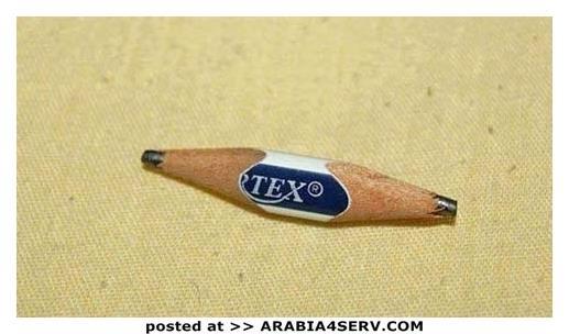 القلم الرصاص كنا بنبريه من الناحيتين