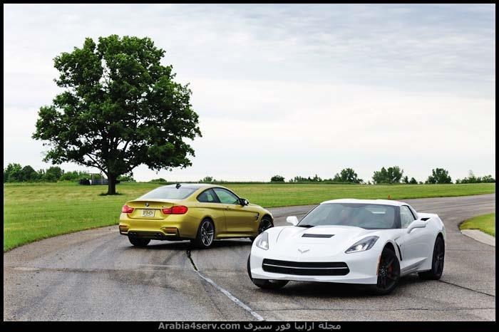 صور-2015-BMW-M4-مع-2014-Chevrolet-Corvette-4