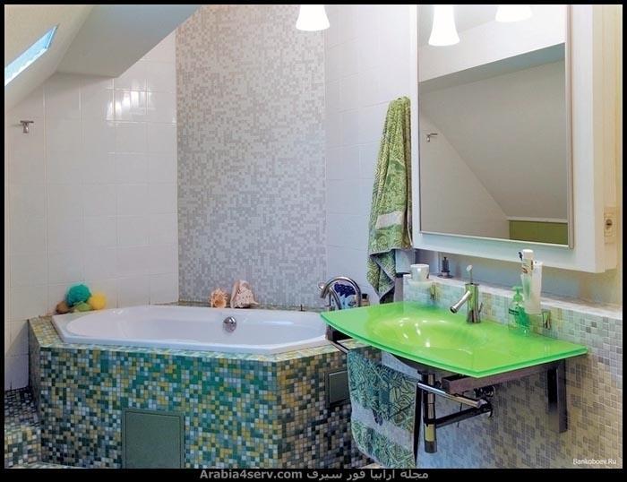 صور-حمامات-مودرن-باللون-الأخضر-3