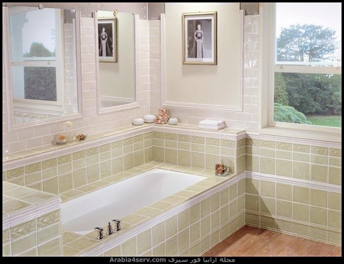 صور-حمامات-مودرن-باللون-الأخضر-4