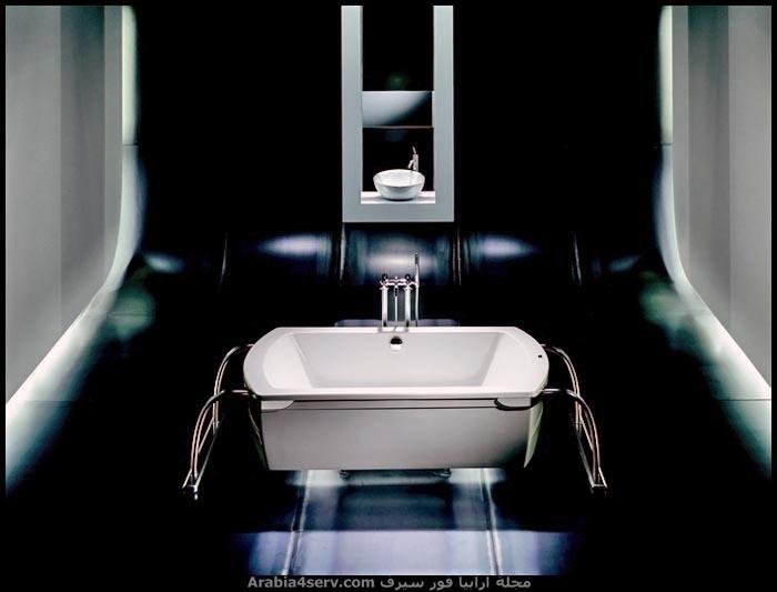 حمامات باللون الاسود