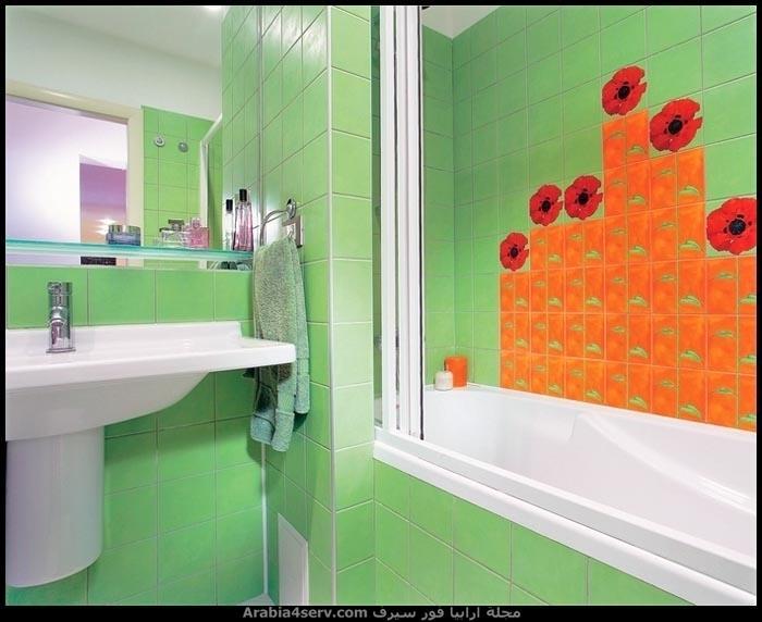صور-حمامات-مودرن-باللون-الأخضر-10