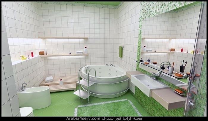 صور-حمامات-مودرن-باللون-الأخضر-5