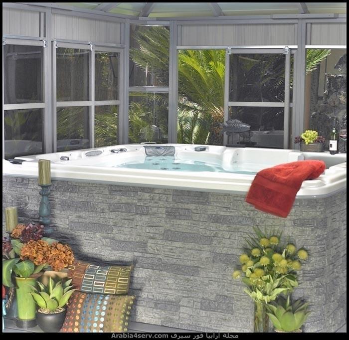 صور-حمامات-مودرن-باللون-الأخضر-6