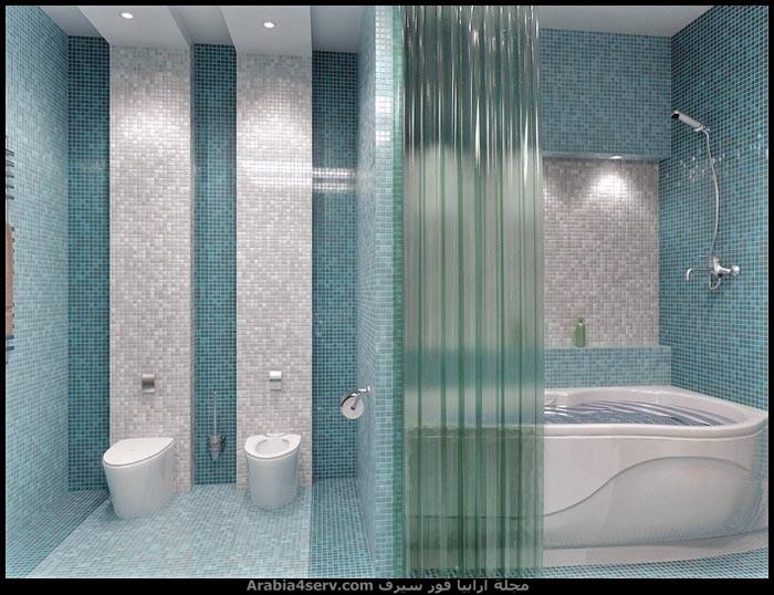 صور-ديكورات-حمامات-مودرن-باللون-الازرق-2