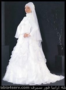 فستان زفاف محجبات جميل جدا