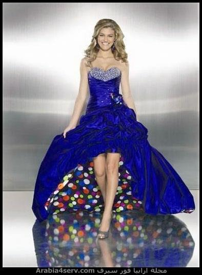 فستان سواريه ازرق مثير