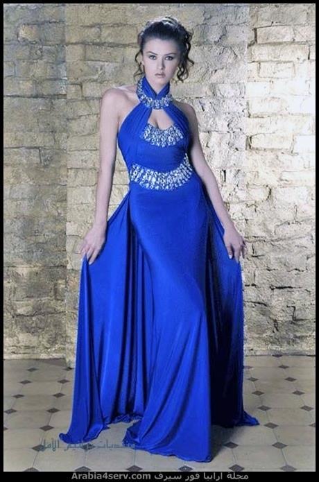فستان سواريه ازرق تحفة