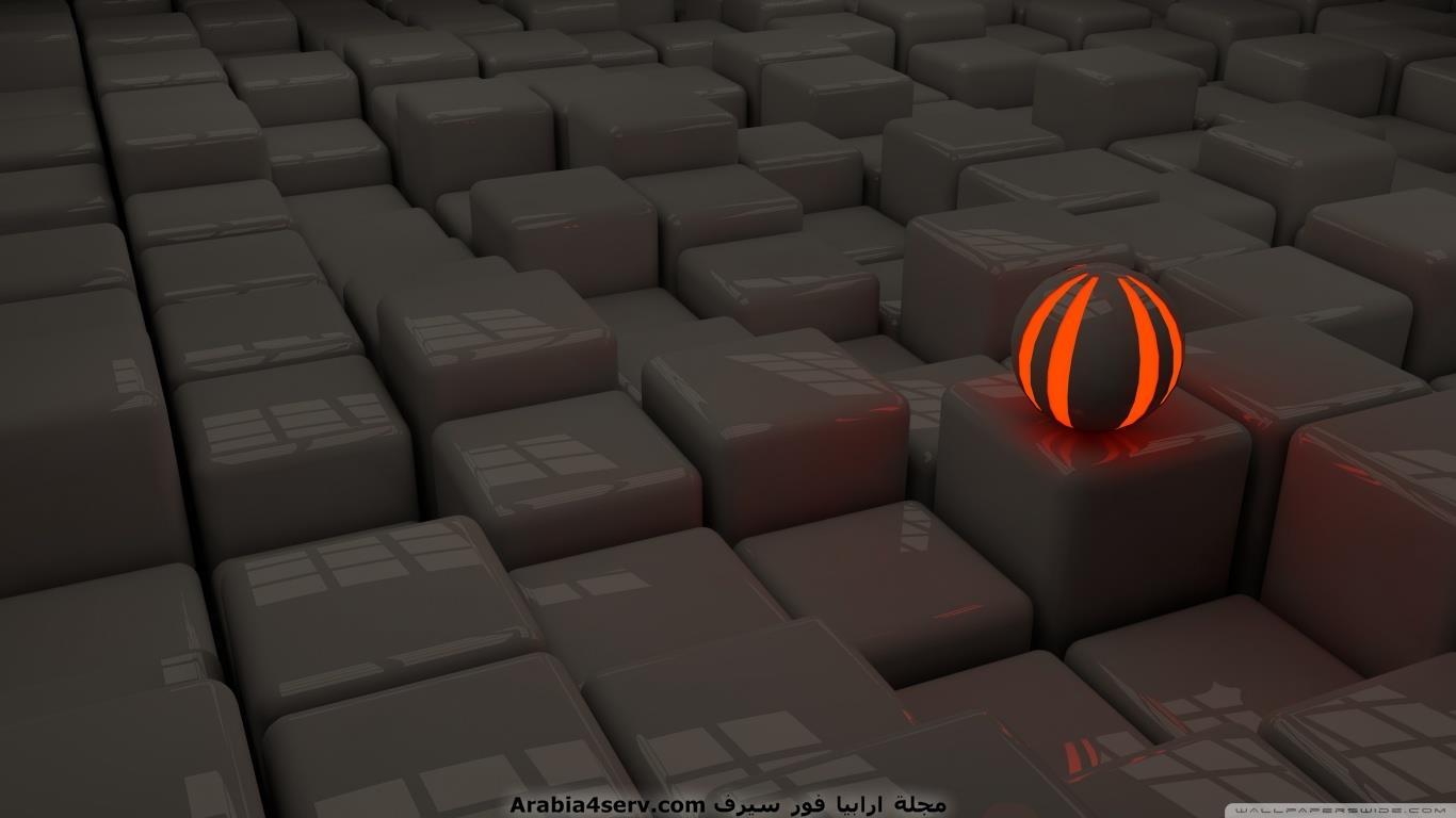 خلفيات ثلاثية الأبعاد 3D بمقاس 1366x768 للاب توب