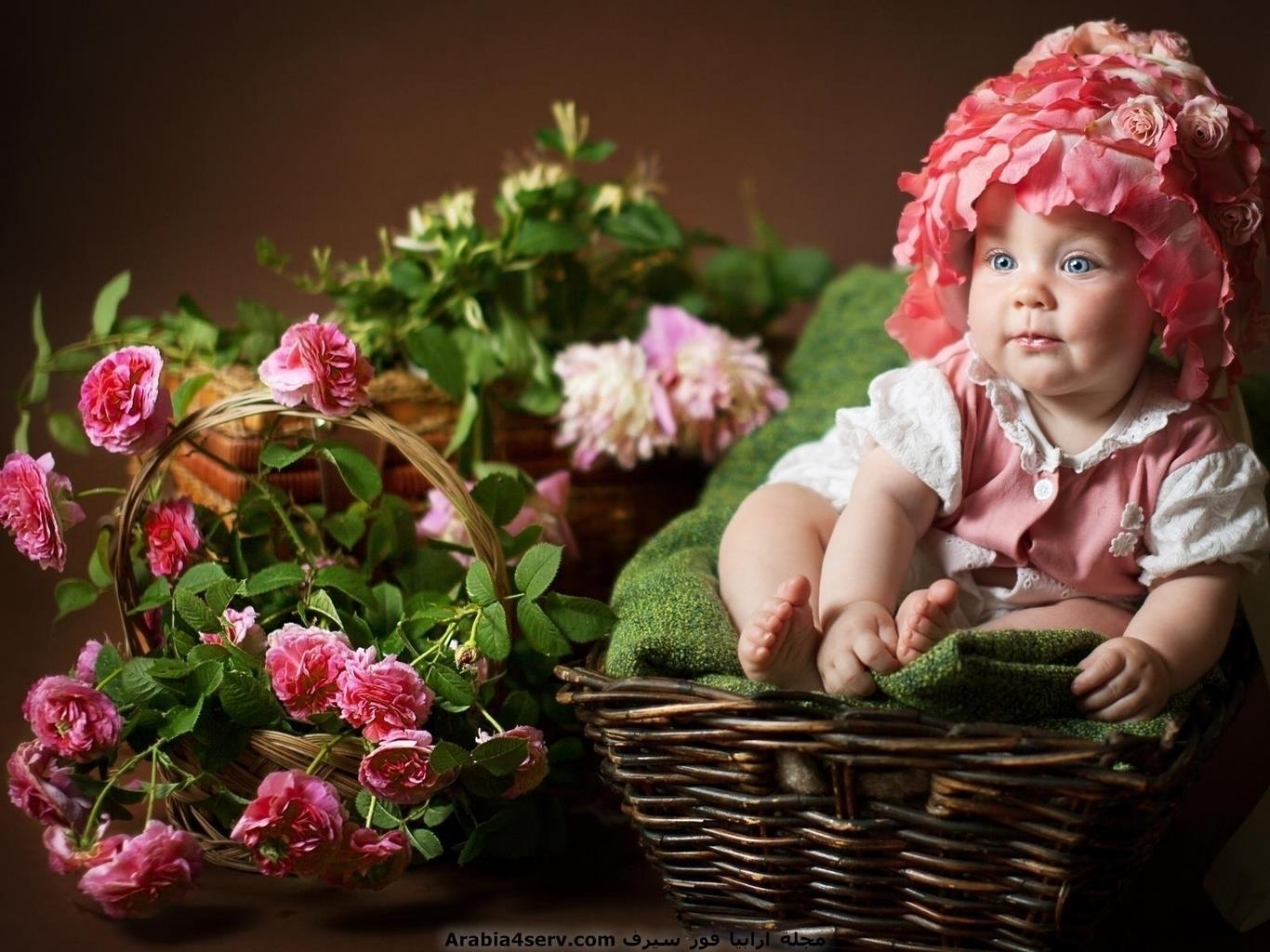 خلفيات-و-صور-اطفال-مع-الزهور-و-الورود-10