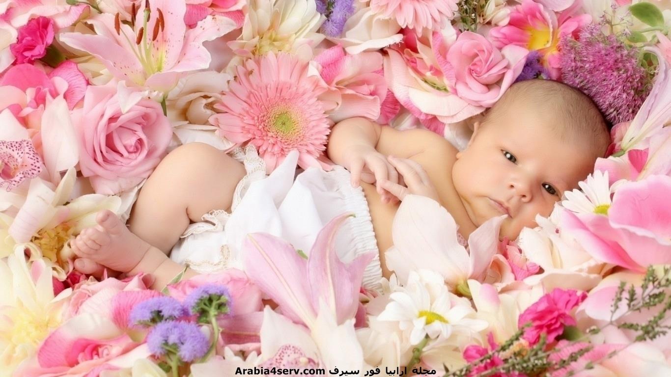 خلفيات-و-صور-اطفال-مع-الزهور-و-الورود-8