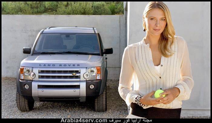 صور ماريا شارابوفا و سيارة لاند روفر