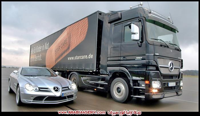 صور سيارات نقل ثقيل مرسيدس