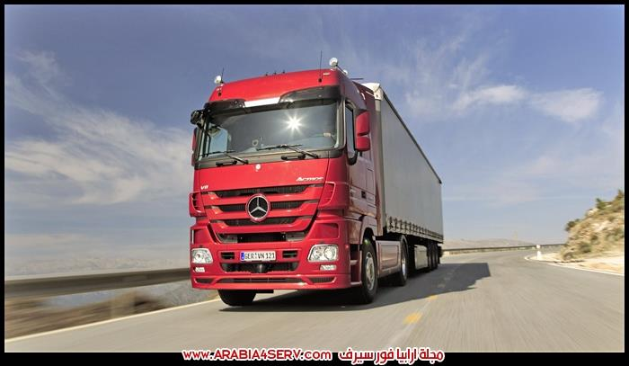 صور شاحنات سيارات نقل ثقيل مرسيدس