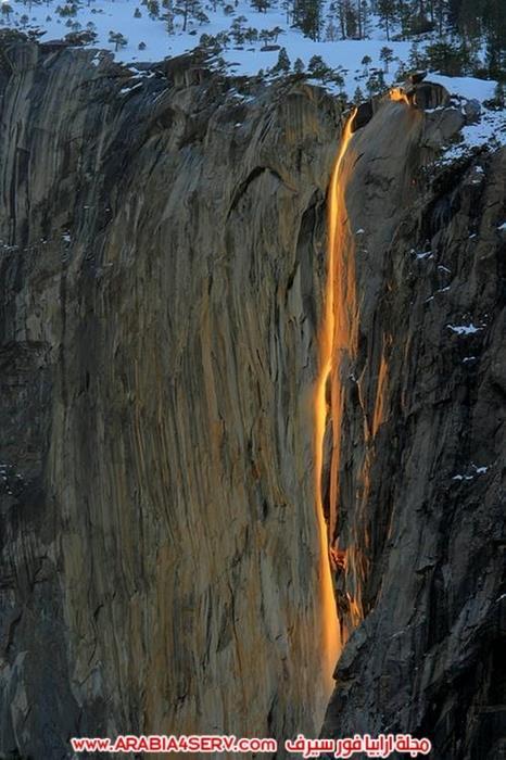 شلال-النار-في-كاليفورنيا-1