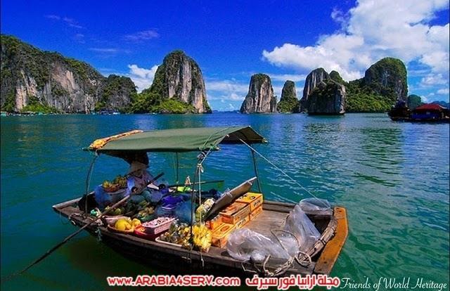 صور خليج هالونج باي في فيتنام صخور غريبة جدا