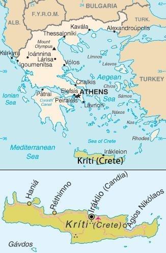 علم-اليونان---خريطة-جزيرة-كريت---مأكولات-بحرية-يونانية-1