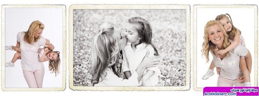 غلاف فيس بوك ام و بنتها